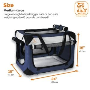 "Petluv's Soothing ""Happy Cat"" Premium Soft Sided Cat Carrier"