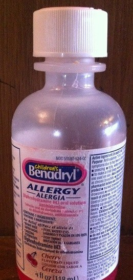 benadryl for cats